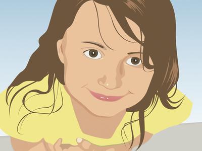 Illustration of my daughter illustration