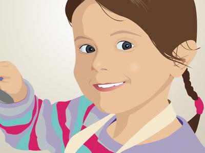 Illustration of my niece  illustration