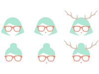 Girl Logo Study