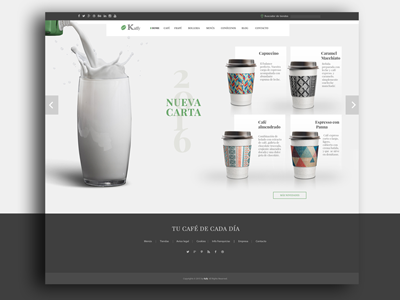 Coffee shop landing page - Home home ux ui responsive web branding promotion coffee shop coffee café cup