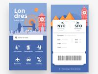 Flights App, Home & Boarding pass