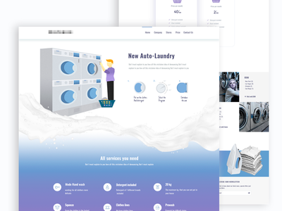Laundry, landing page