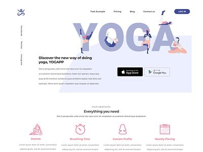Yoga app ui asana illustration website app yoga