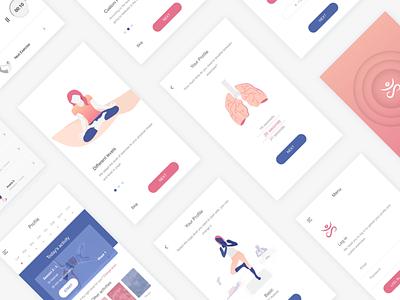 Yoga App ux ui asana illustration app yoga