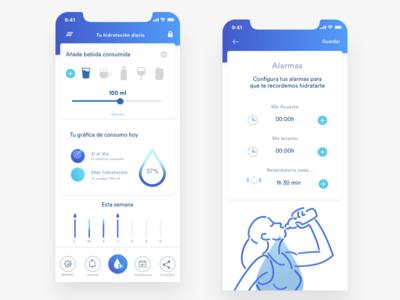 Water remainder, app
