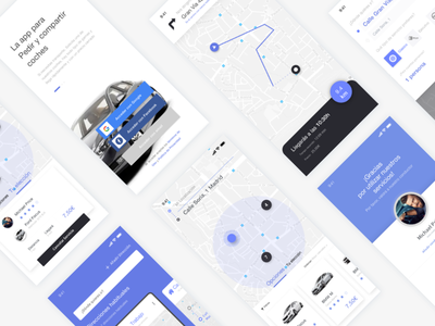 Cars rental concept app taxi uber cabify selector ux ui interface illustration sketch app driver car vehicles