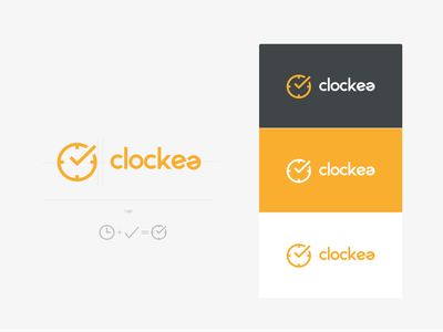 Clockea app logo logo time logo clock logo check logo design logotype branding concept branding design branding brand timer logo app time logo