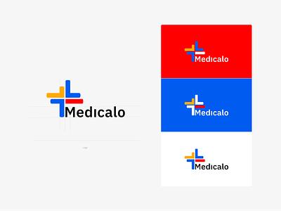 Medicalo app logo branding brand identity logo design logodesign logotype logo medical design medical logo medical care medical app medical