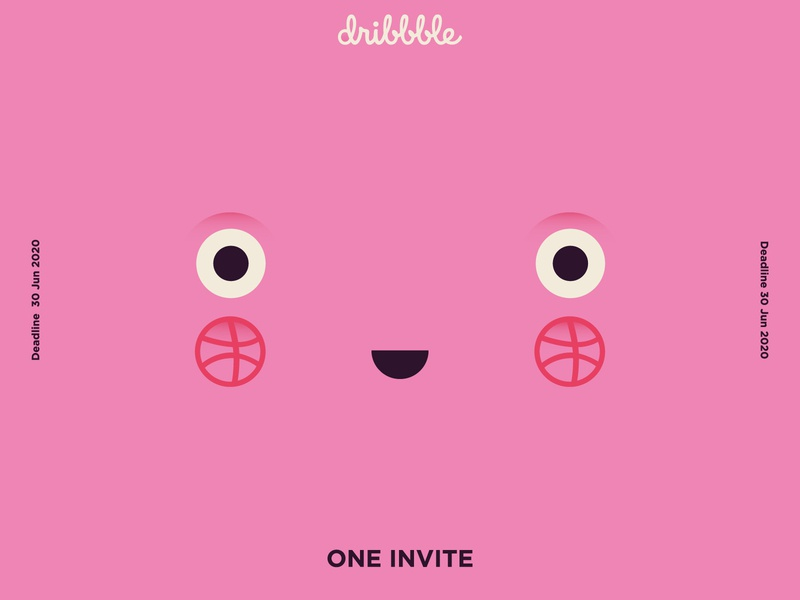 1 Dribbble Invite basket ball play character illo dribbble invitation dribbble adobe illustrator illustrator shot draft flat vector design illustration invite dribbble invite giveaway dribbble invite