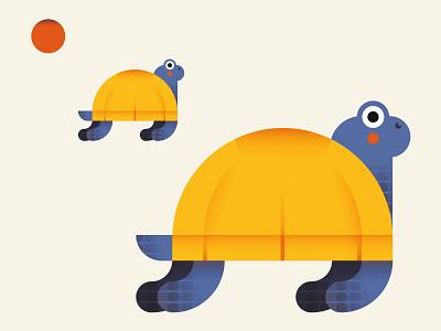 Turtles characterdesign animal art shot illustrator dribbble flat digitalart design cute character adobe illustrator vector draft illustration illo turtle turtles