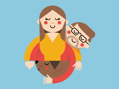 Cute family portrait family portrait illustrator dog couple love illustration vector character illo cute dribbble flat draft illlustrator shot design adobe illustrator