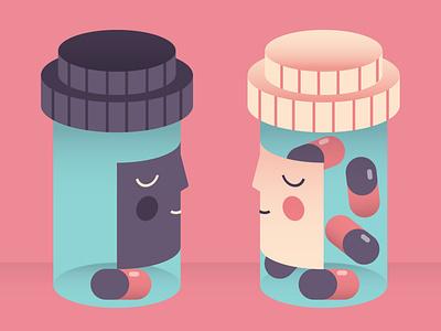 Black patient discrimination discrimination pill news illo illustrator dribbble patient balck drug medicine pills cancer shot draft character flat vector design illustration