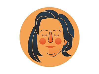 Illustrated Portrait for La Stampa woman writer portrait magazine digital art vector cute design character illustrator illustration