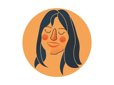 Illustrated Portrait for La Stampa shot stampa magazine artwork art digital cute vector illo illustration portrait women