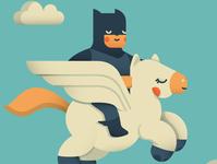 Batman and Pegasus