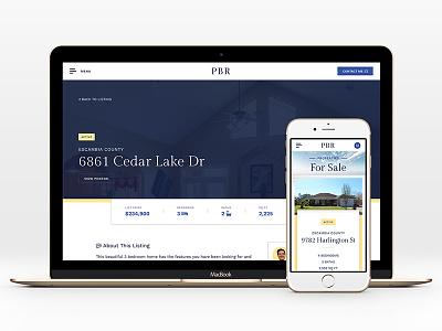 Real Estate Website Live! web design ux ui realtor real estate property listing