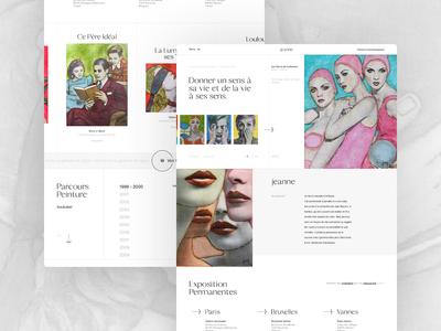Painter Website Concept