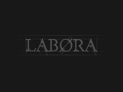 Labora Films typography movie labora design logo film
