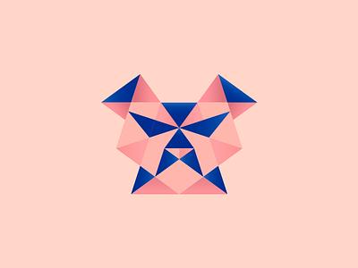 Dog Poly pet animal modernism icon logo form shape grid geometry triangle cachorro dog