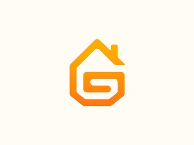 Geracom design logo factory company building built g letter construction