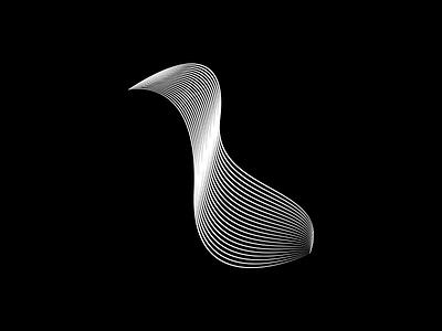 Line Bird linestyle futuristic pato pássaro pattern brand vector illustration grid form symbol duck fly bird lines line design shape logo