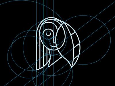 Girl Pin Grid leaf face girl face girl illustration form line symbol shape design grid logo