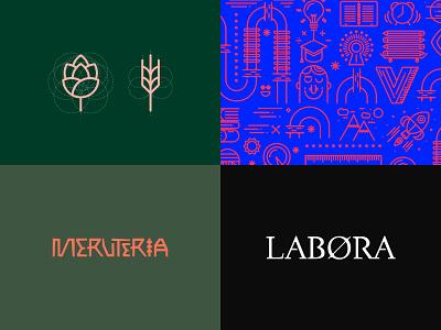 2018 branding grid form symbol animal brewery african beer vector shape line pattern typography design logo