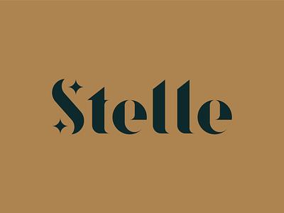 Stelle vector illustration identity logotipo logotipe stars italian italy brand kerning type symbol stelle star shape form typography design grid logo