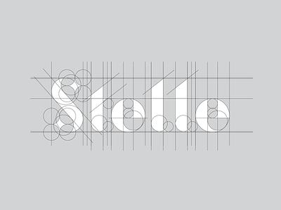 Stelle Grid letter illustrator brand form design logotype stars star s logo shape typography kerning grid logo