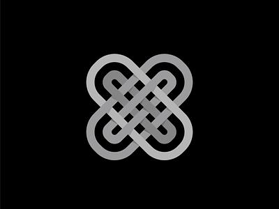 Fabric Monogram illustration geometry branding pattern brand line fabric design x logo south brazil vector design form symbol fabric pattern factory fabric shape grid logo