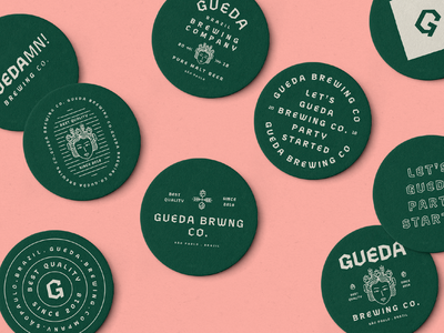 Gueda Beer Badges beer art goddess vector shape flat gueda cheers drink golden ratio geometry pattern typography grid design illustration form beer branding badges beer logo