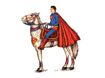 Superman On Superhorse