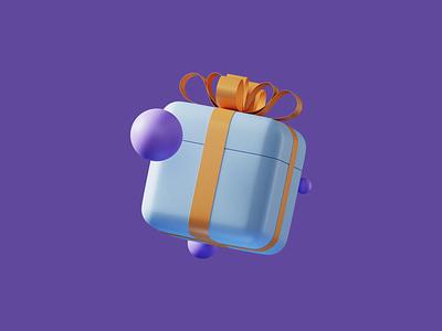 Gift Icon icon illustraion refferal 3d bow gift blender 3d 3d illustration restream