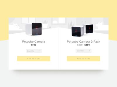 Petcube Website Checkout