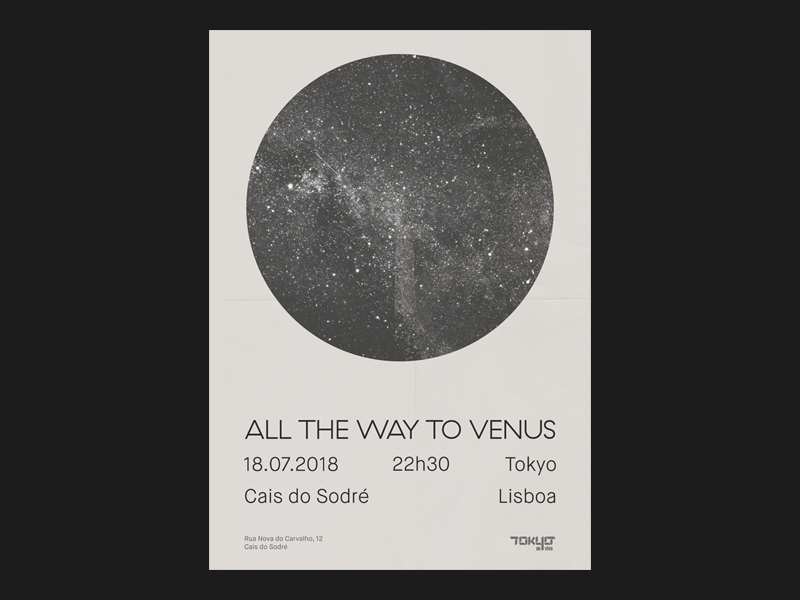 All The Way To Venus @ Tokyo Lisbon lisbon gig poster rock post-rock minimalism print poster music