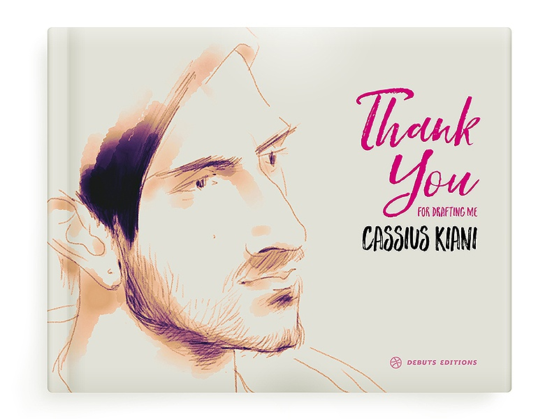 Mr. Kiani book cover — Thank You first shot typography book design sketch drawing illustration thank you debuts book cover bookcover