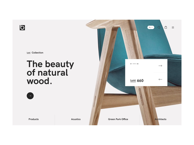 Bejot - welcome screen (Behance Case) michal jakobsze unikat products simplistic news welcome white minimalistic chair black simple mobile web flat clean animation shop home slider