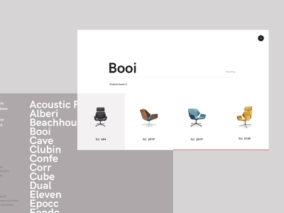 Bejot - search and menu interactions michal jakobsze unikat drag and drop filters clean shop chairs office design scroll hover menu search slider furniture animation white flat simple minimalistic