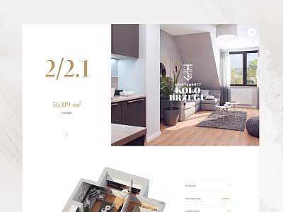 Kolobrzegu - apartament preview michal jakobsze unikat white water vintage view simple sea grid design green flat brown apartaments