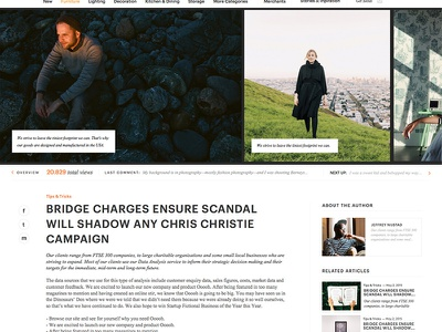 WIP - Blog/Magazine layout for a shop hipster typography magazine blog