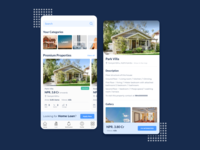 Concept for real estate app