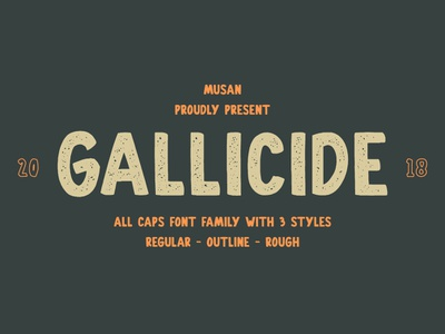 Gallicide All Caps Font Family rough rough font vintage typeface type font vector debutshot debute debut condensed design typography logo condensed font textured vintage font display font all caps