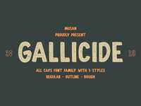 Gallicide All Caps Font Family
