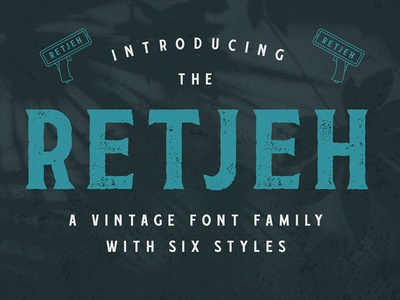 Retjeh Vintage Font vintage font vintage vector typography typeface rustic rough poster new font logo illustration headline font distressed display font design branding badge logo badge all caps