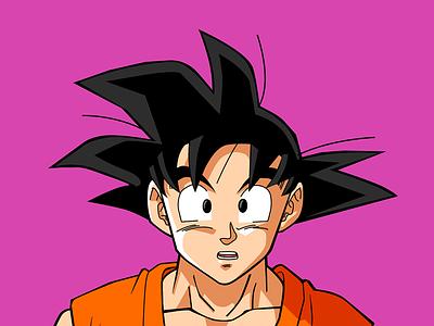 Goku vector illustrator goku dragonballsuper dragonball dragon ball anime 2d