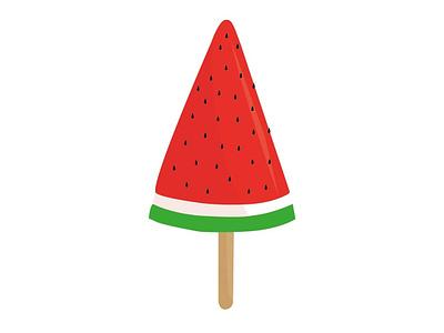 Watermelon icecream illustration vector illustrator