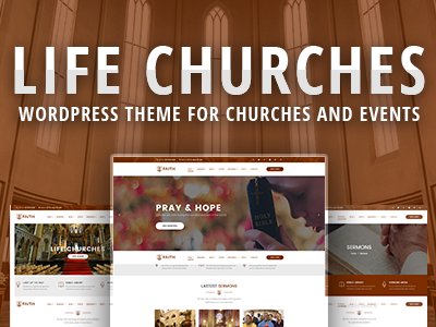 Life Churches - WordPress Theme for Churches and Events small business sermon responsive religious religion non-profit events event churches church christian charity