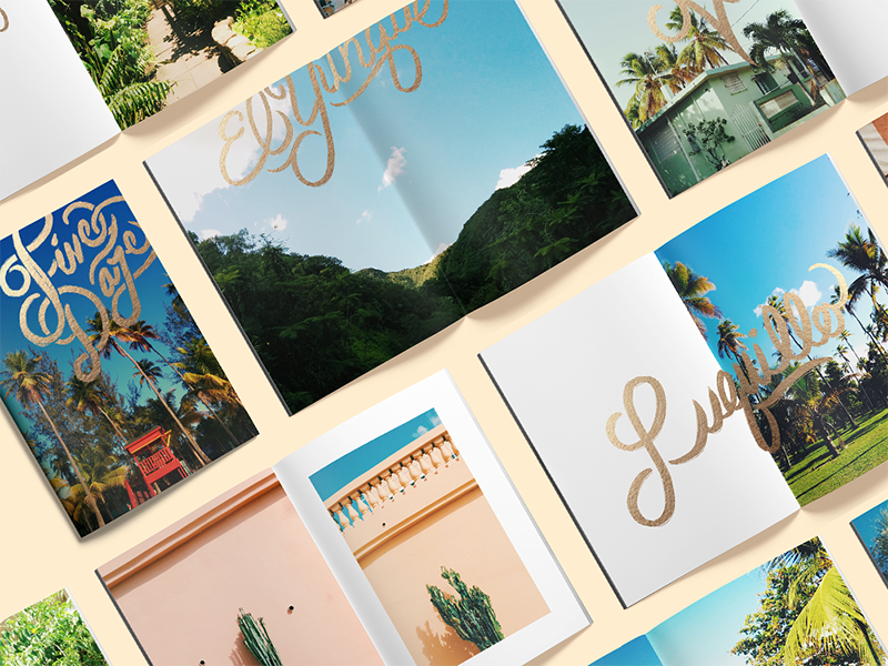 Five Daze Zine: Puerto Rico puerto rico photography gold typography travel zine