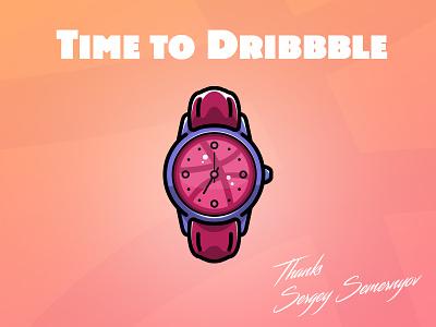 Hello Dribbble! invite hello follow shot first design debut creative art time watch clock