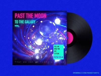 Black gum Album cover of C4D particle design